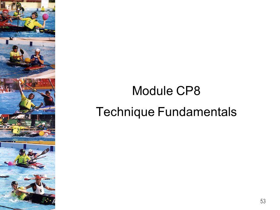 Module CP8 Technique Fundamentals 53