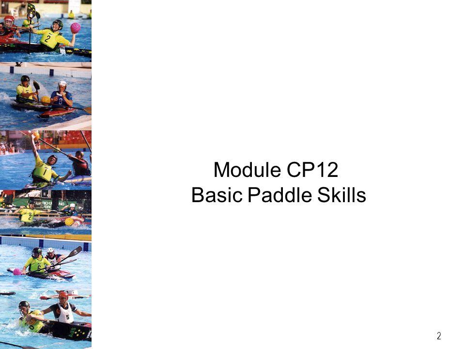 Module CP12 Basic Paddle Skills 2