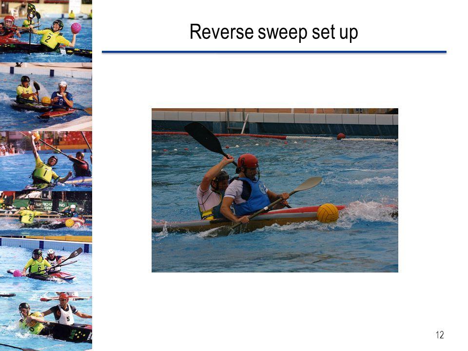 Reverse sweep set up 12
