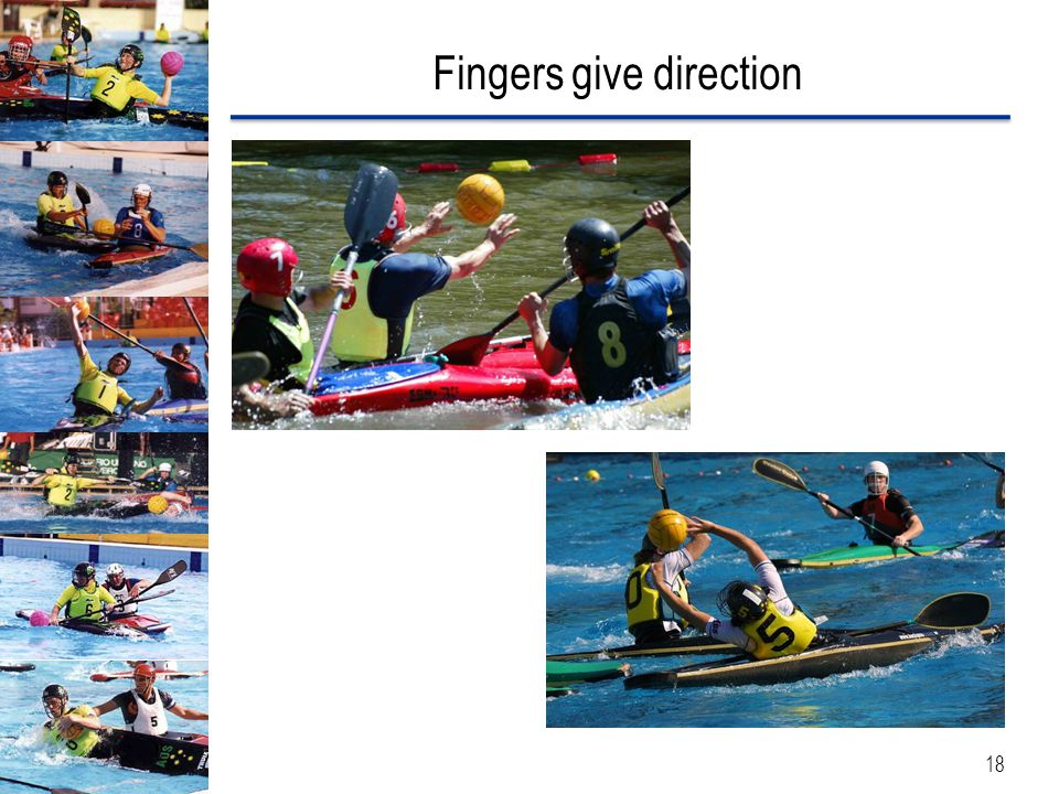 Fingers give direction 18