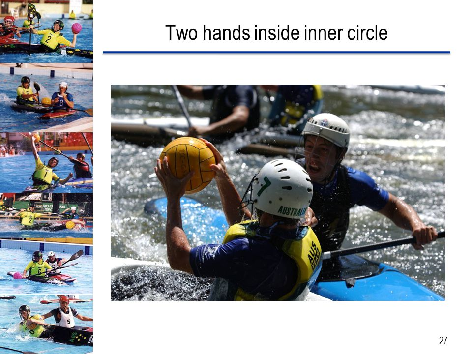 Two hands inside inner circle 27