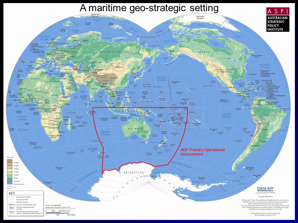 A maritime geo-strategic setting ADF Primary Operational Environment