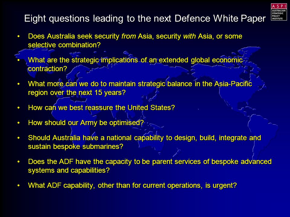 Does Australia seek security from Asia, security with Asia, or some selective combination?Does Australia seek security from Asia, security with Asia, or some selective combination.