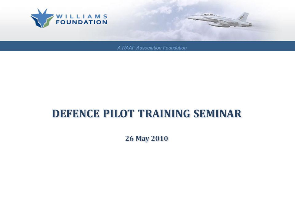 The Williams Foundation:  is an independent research organisation whose purpose is to promote the development and effective implementation of national security and defence policies as they impact on Australia's ability to generate air power appropriate to Australia's unique geopolitical environment and values.