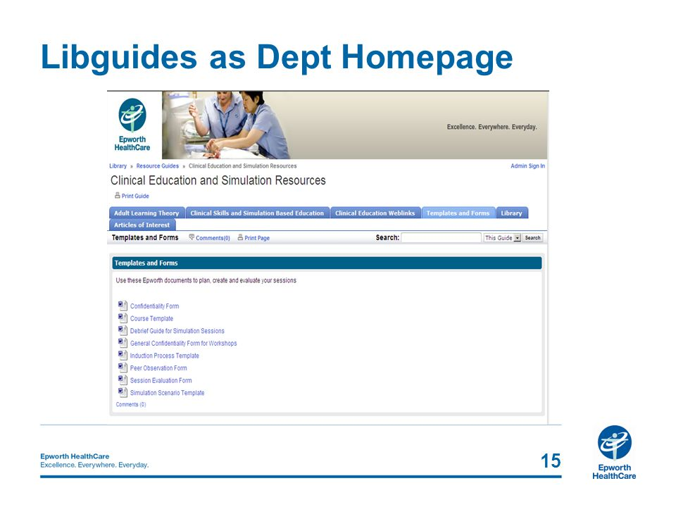 Libguides as Dept Homepage 15