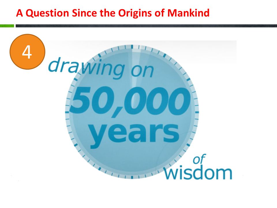 A Question Since the Origins of Mankind 4