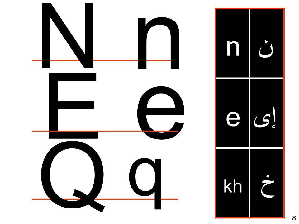مراجعة للحروف خ kh e n إى ن Q e n E N q 8