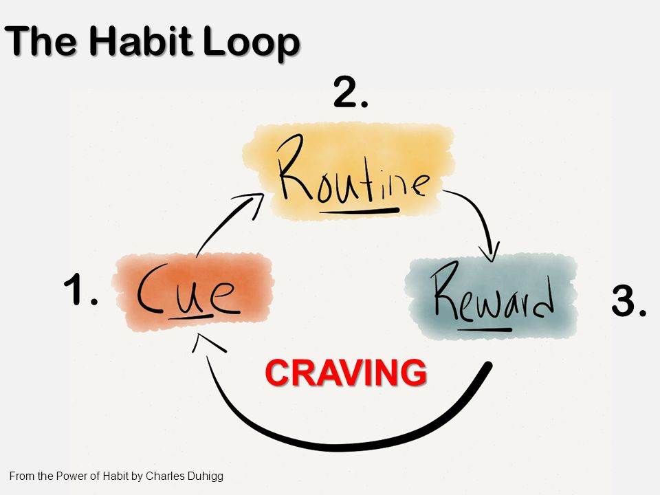 CRAVING From the Power of Habit by Charles Duhigg 1. 2. 3.