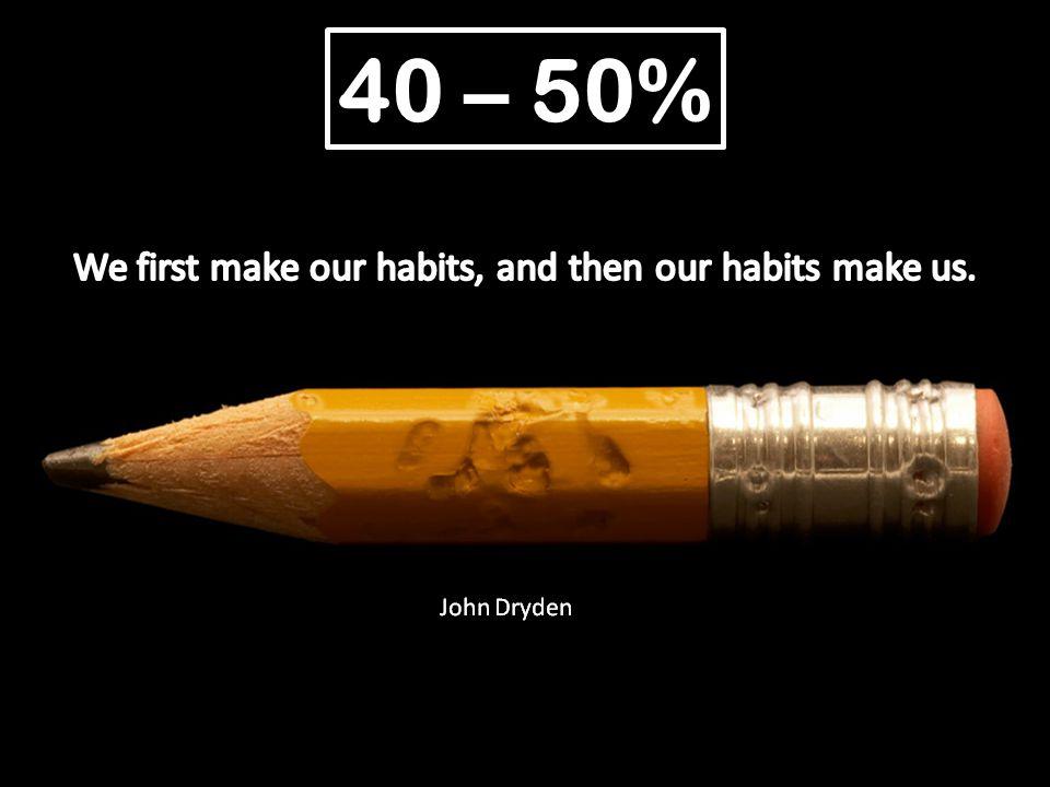 40 – 50%