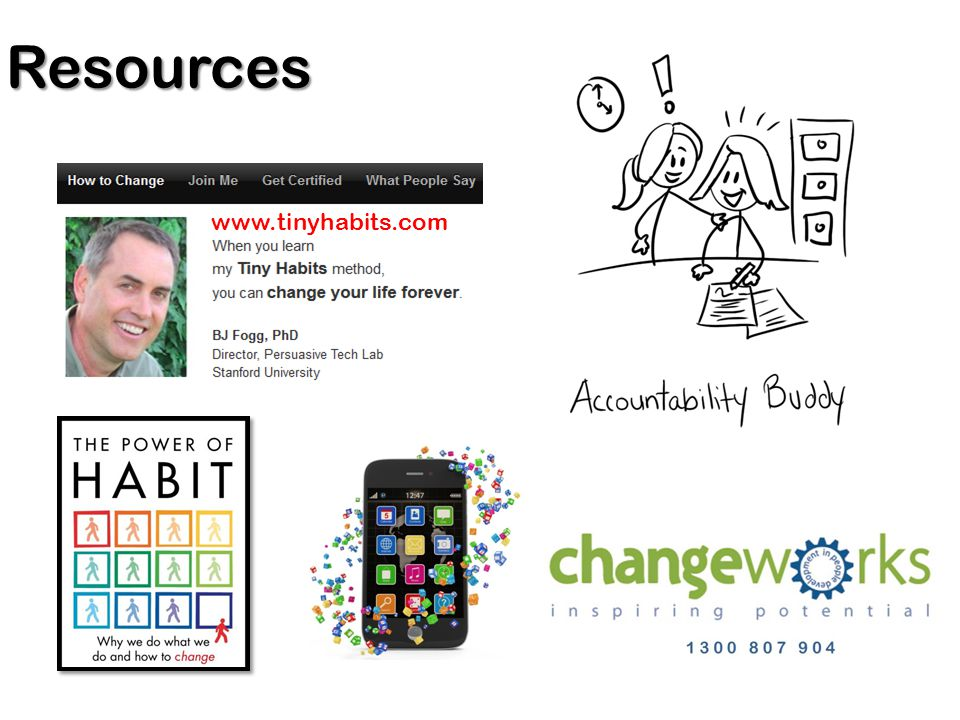 Resources www.tinyhabits.com