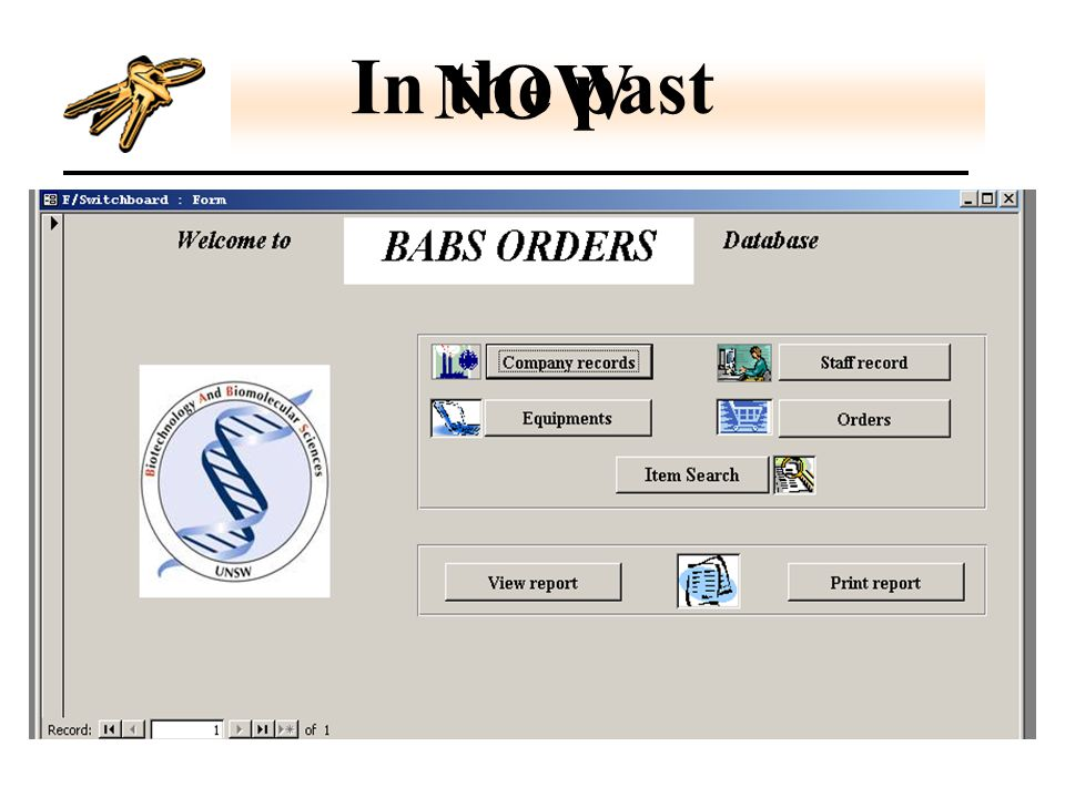 Welcome to BABS Orders database