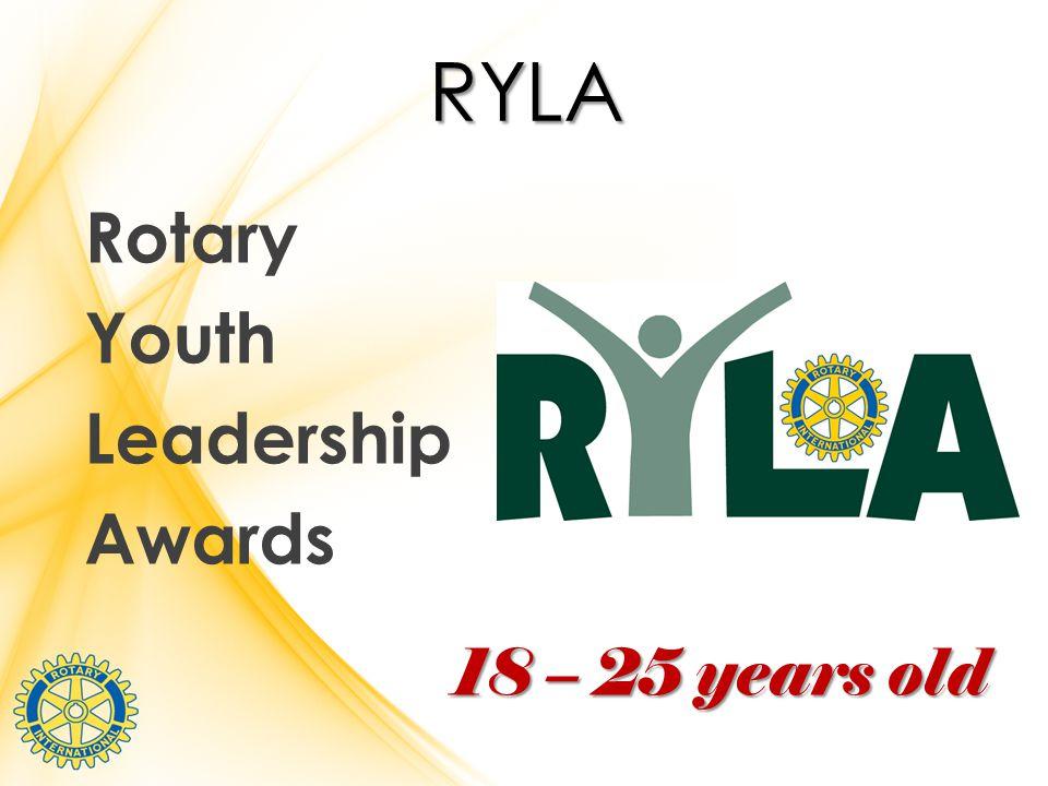 RYLA Rotary Youth Leadership Awards 18 – 25 years old