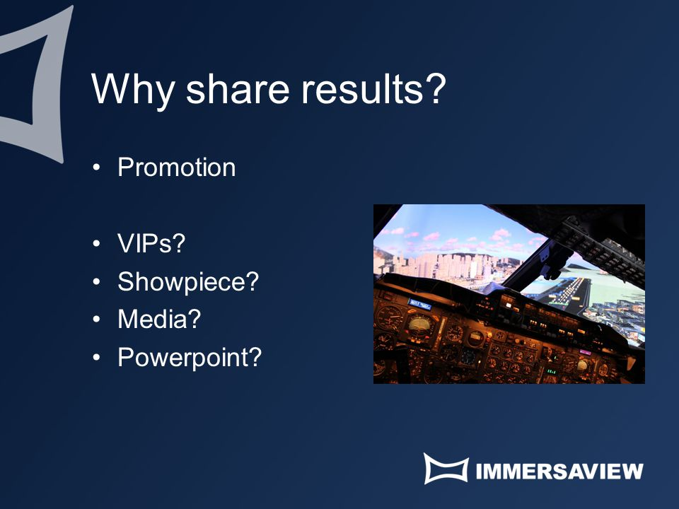 Why share results Promotion VIPs Showpiece Media Powerpoint