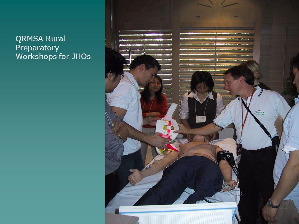 QRMSA Rural Preparatory Workshops for JHOs