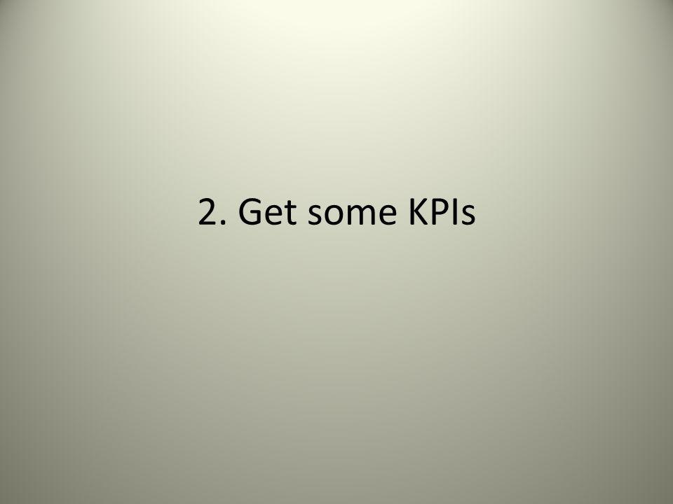 2. Get some KPIs