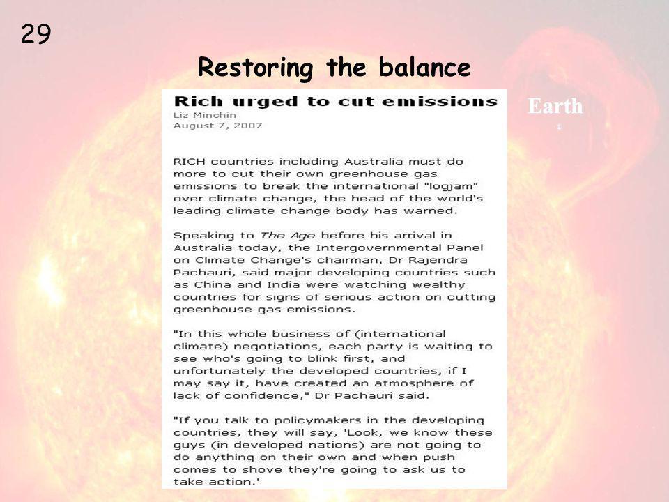 Restoring the balance 29