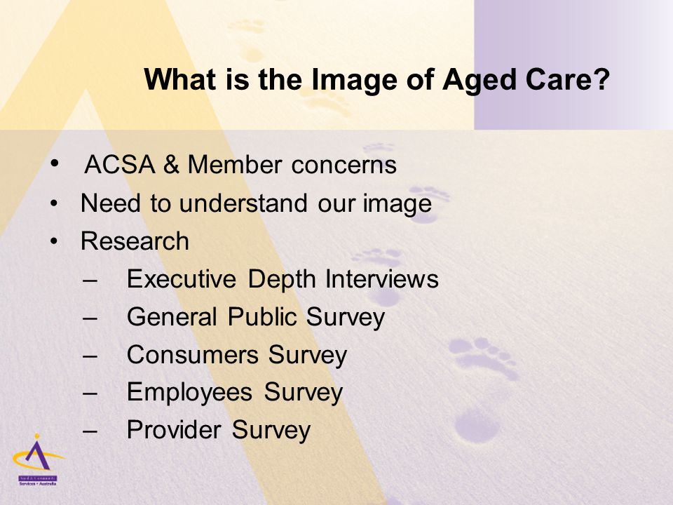 What is the Image of Aged Care.