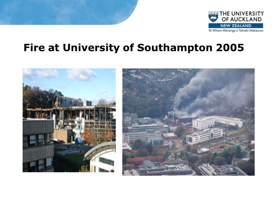 Fire at University of Southampton 2005