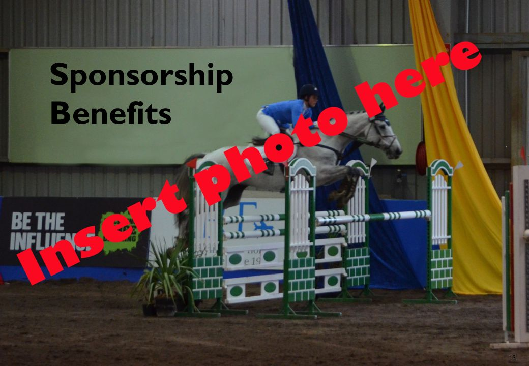 16 Sponsorship Benefits