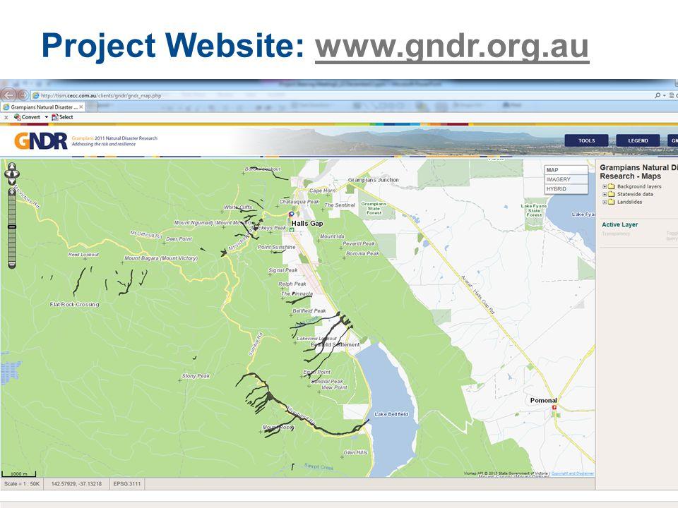 Project Website: www.gndr.org.auwww.gndr.org.au