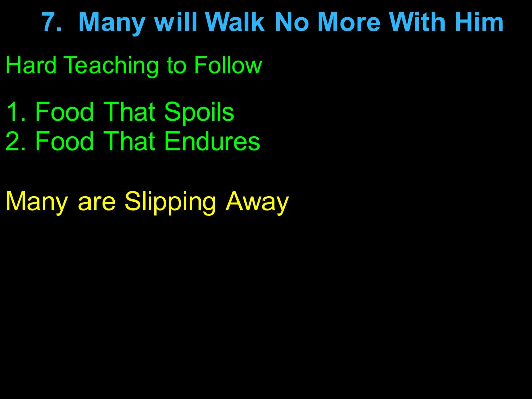 Hard Teaching to Follow Many are Slipping Away Stop, Look, Think and Follow the your Heart.