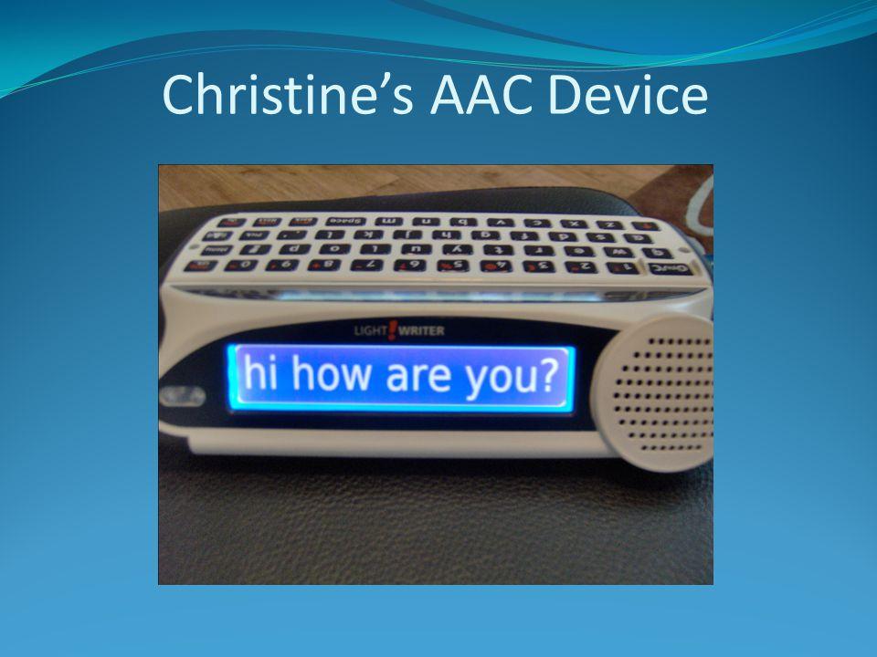 Christine's AAC Device
