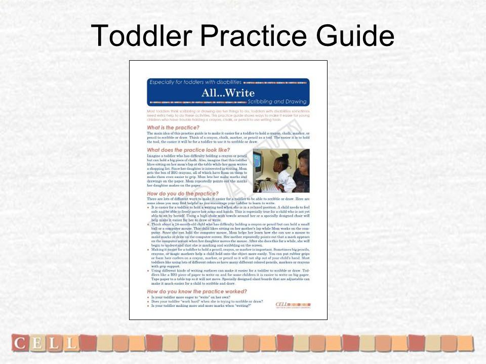 Toddler Practice Guide