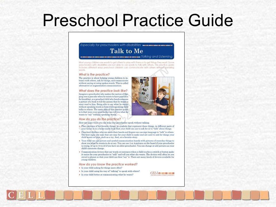 Preschool Practice Guide