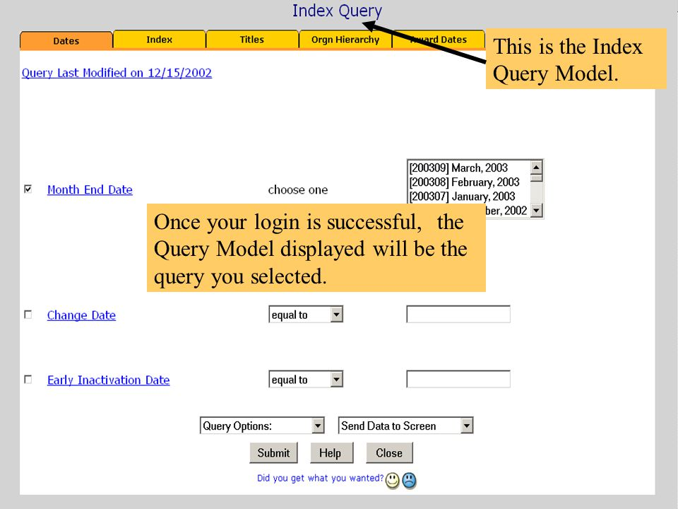 This is the Index Query Model.