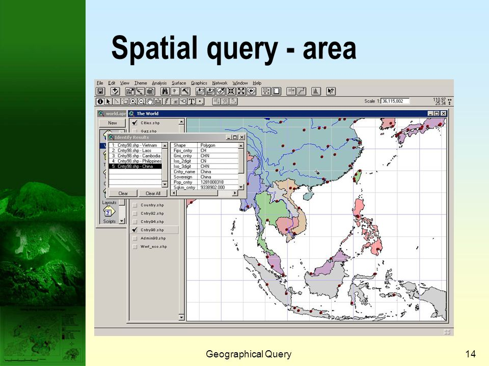 Geographical Query13 Spatial query - line