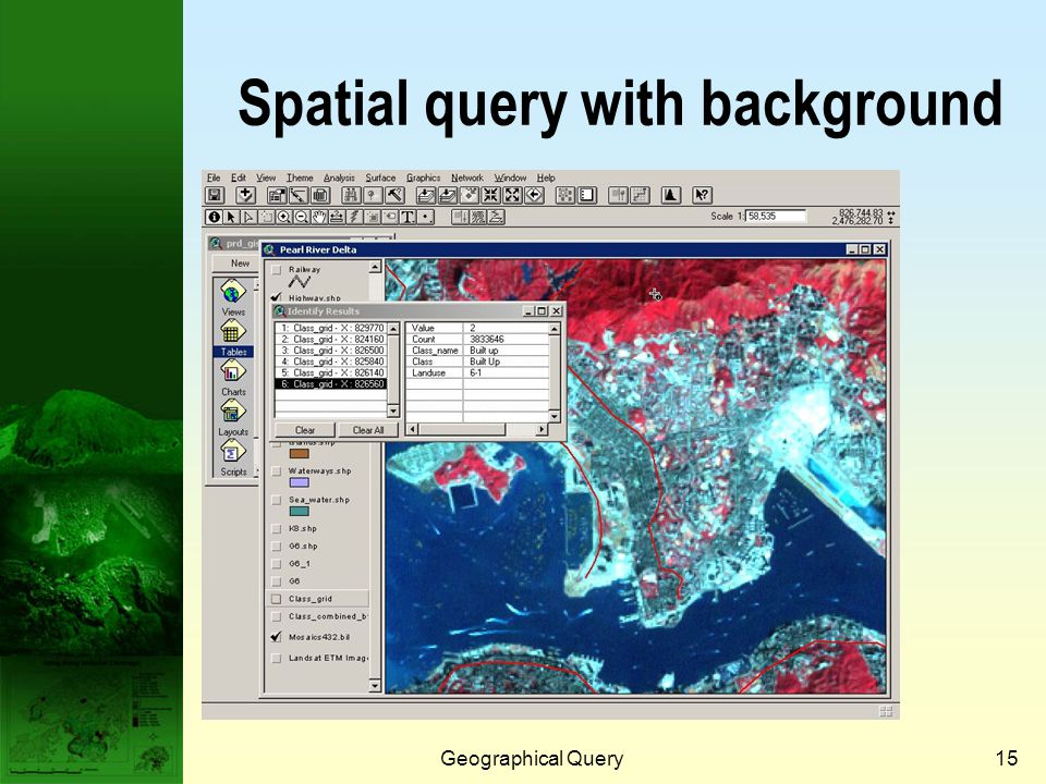 Geographical Query14 Spatial query - area