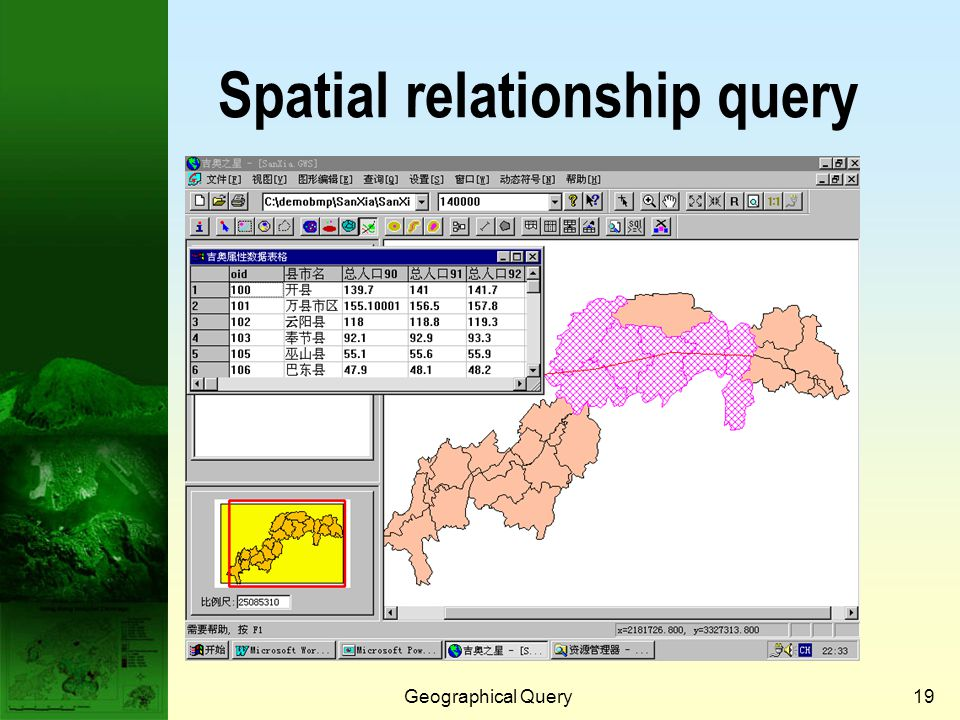 Geographical Query18 Attribute query