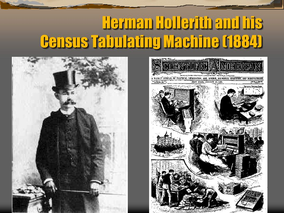 Herman Hollerith and his Census Tabulating Machine (1884)