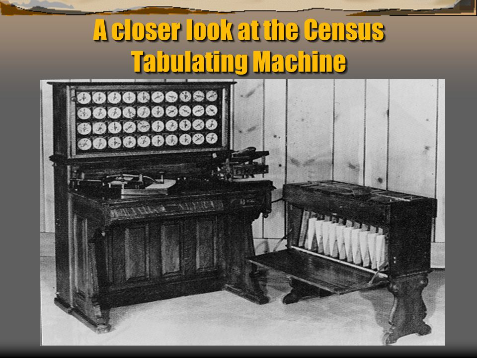 A closer look at the Census Tabulating Machine