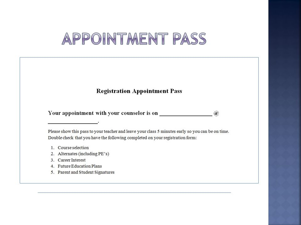  Begins on November 14 th  Ends on November 26 th  Be on time for your appointment  Be prepared with a completed form