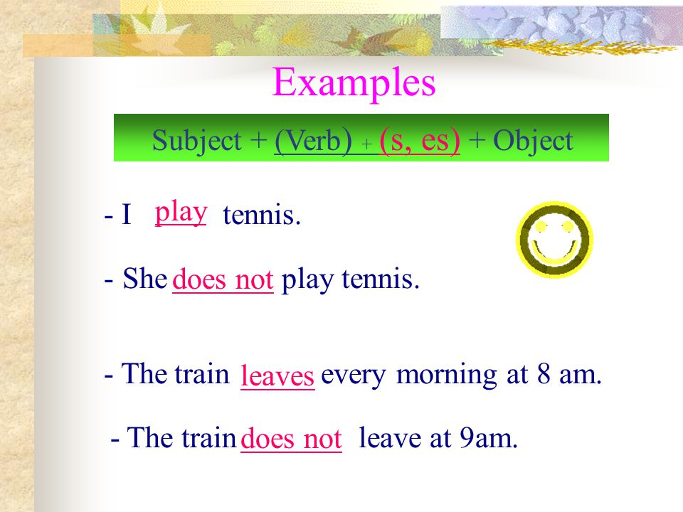 Use 1 Use the Present Simple to express the idea that an action is repeated or usual. The action can be a habit, a hobby, a daily event, a scheduled e
