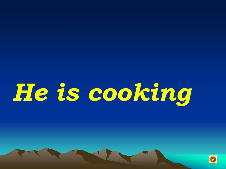 He is cooking