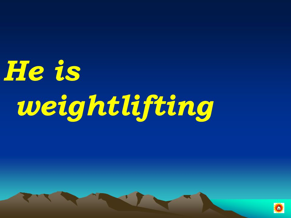 He is weightlifting