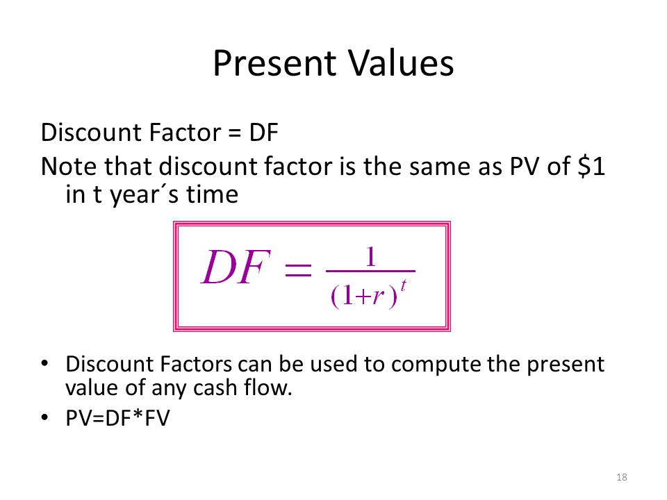 Present Values Example 5.2 You just bought a new computer for $3,000.