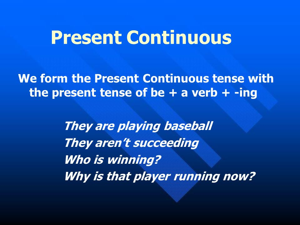 Uses of the Present Continuous To talk about something which is in progress at the moment of speaking It is raining now To talk about something which is in progress around the present, but not exactly at the time of speaking Peter is looking for a job these days To talk about situations which are developing or temporary Computers are becoming more and more important in our lives With adverbs such as always or constantly to express complaints and annoyance He is always calling me late at night With time expressions such as now, at the moment, at present, these days, nowadays and today I'm writing an e-mail right now To talk about future arrangements or plans I'm meeting Peter tomorrow