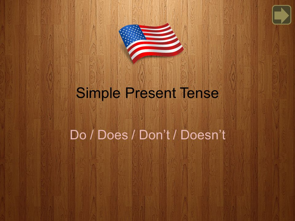 Simple Present Tense Do / Does / Don't / Doesn't