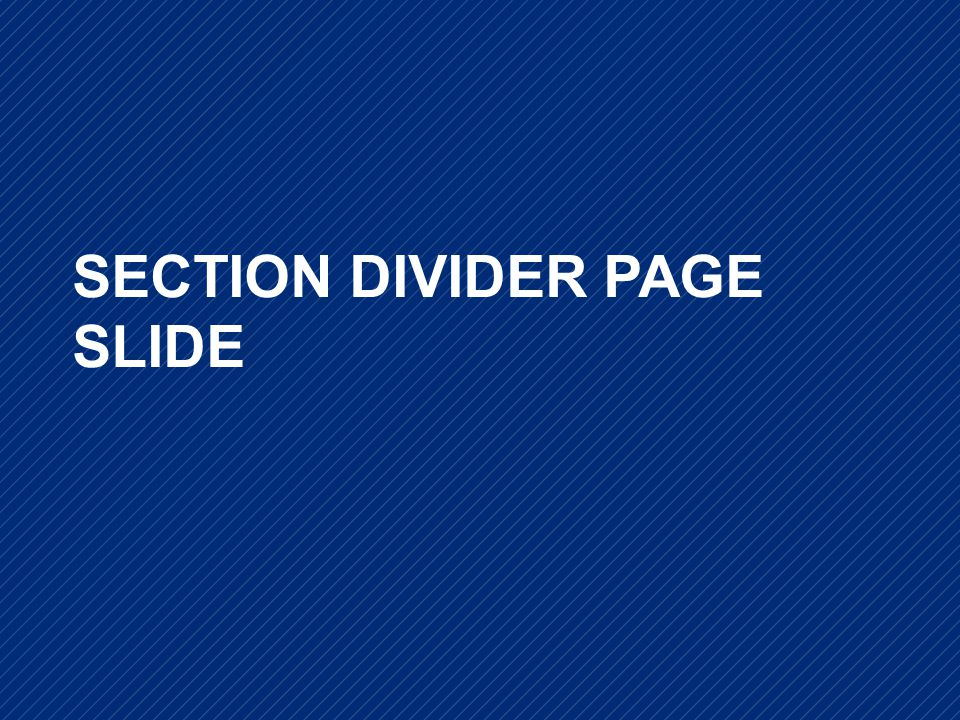 KNOWLEDGE FOR ACTION SECTION DIVIDER PAGE SLIDE