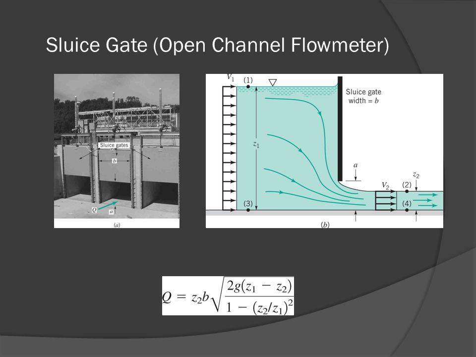 Sluice Gate (Open Channel Flowmeter)