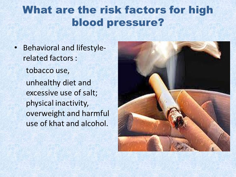 What are the risk factors for high blood pressure.