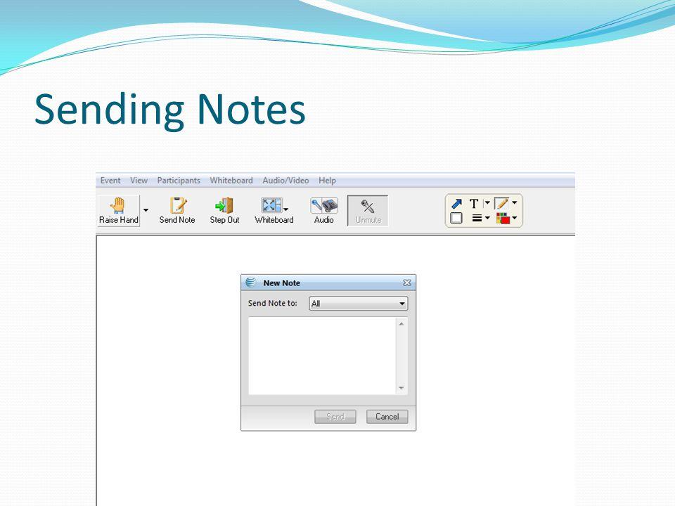 Sending Notes