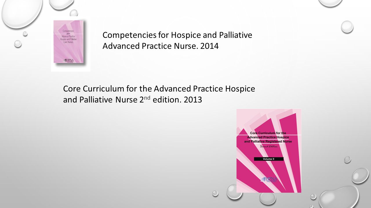 Competencies for Hospice and Palliative Advanced Practice Nurse.