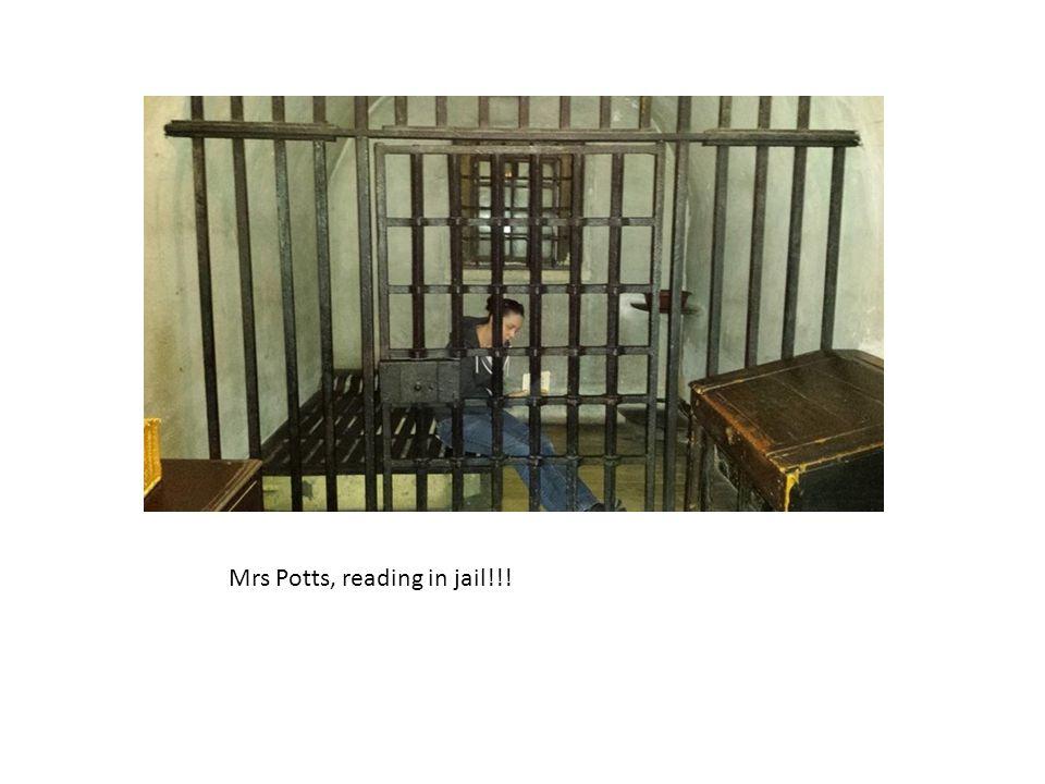 Mrs Potts, reading in jail!!!