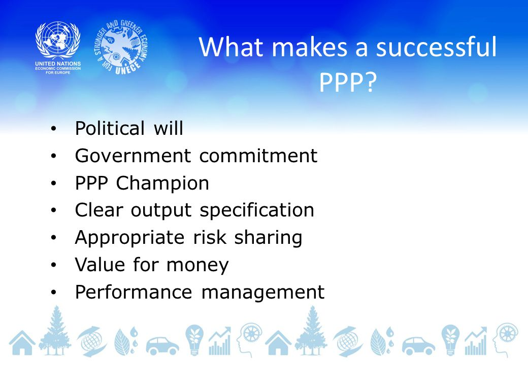 What makes a successful PPP.