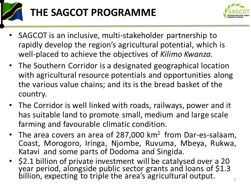 ASANTE SANA THANK YOU FOR FURTHER INFORMATION WWW.SACGOT.COM 30 Let us all work together to make the dream of a Agricultural Transformation a reality.