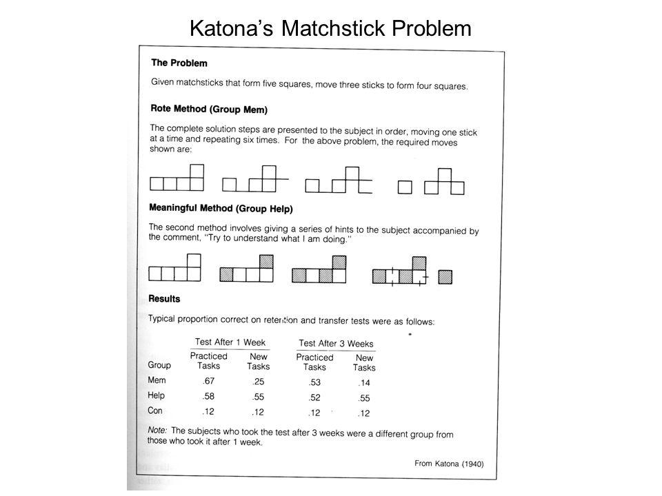 Katona's Matchstick Problem